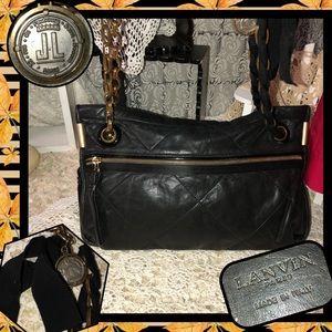 Lanvin Amalia Black Shoulder Bag USED CONDITION